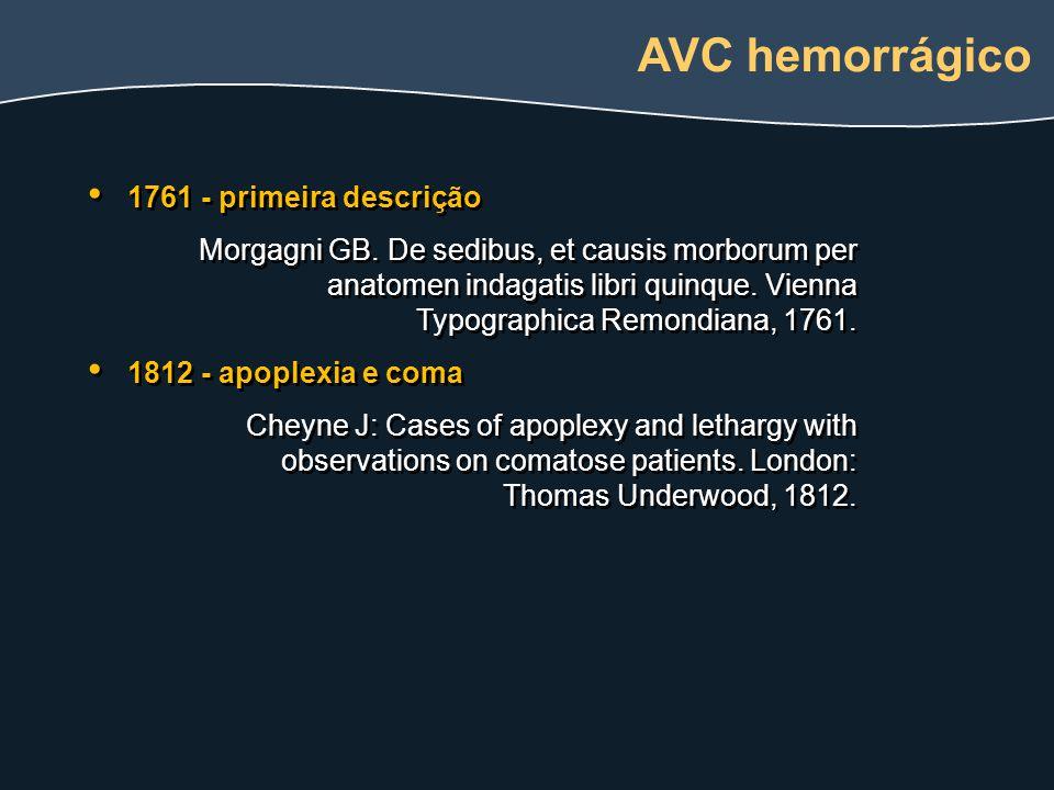 AVC hemorrágico 1761 - primeira descrição