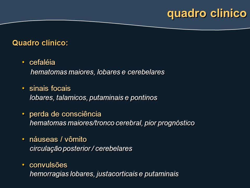 quadro clinico Quadro clínico: cefaléia