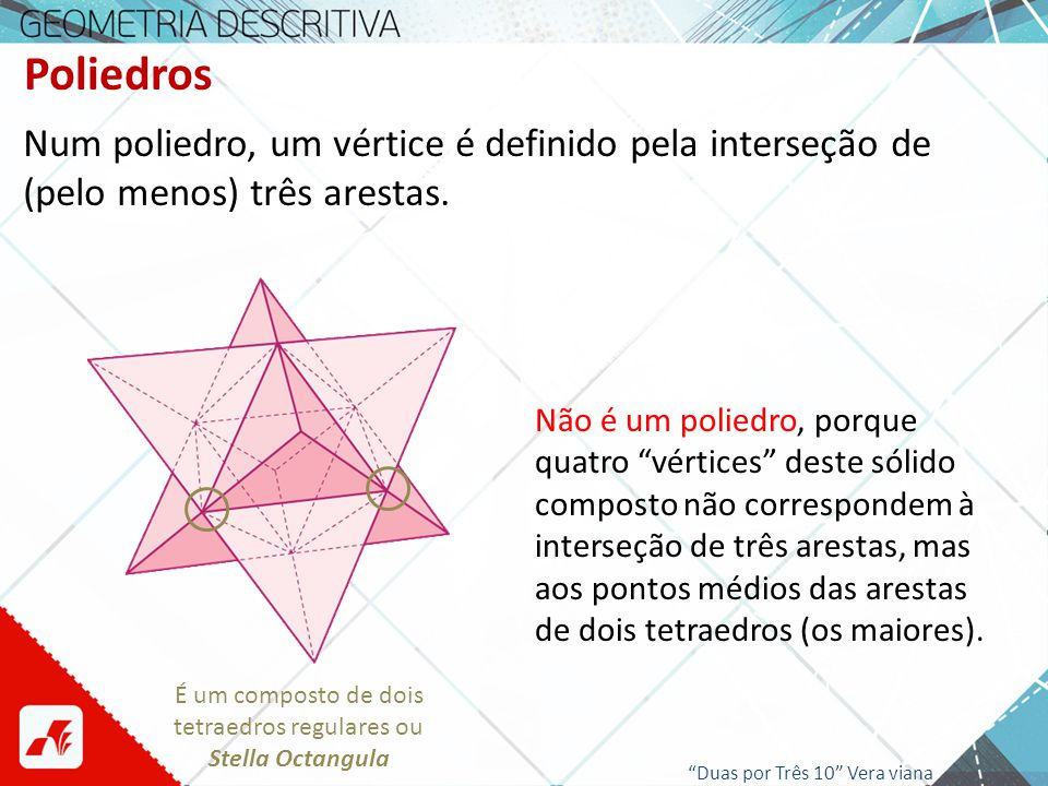 tetraedros regulares ou