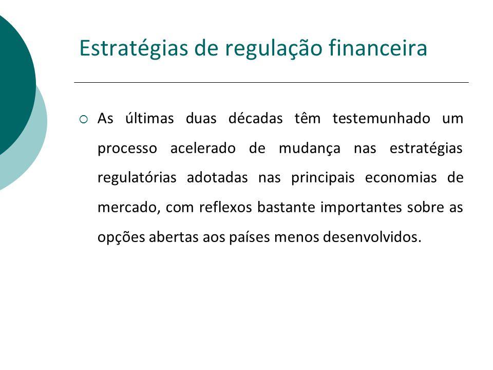 Estratégias de regulação financeira