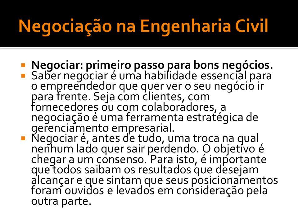 Negociação na Engenharia Civil