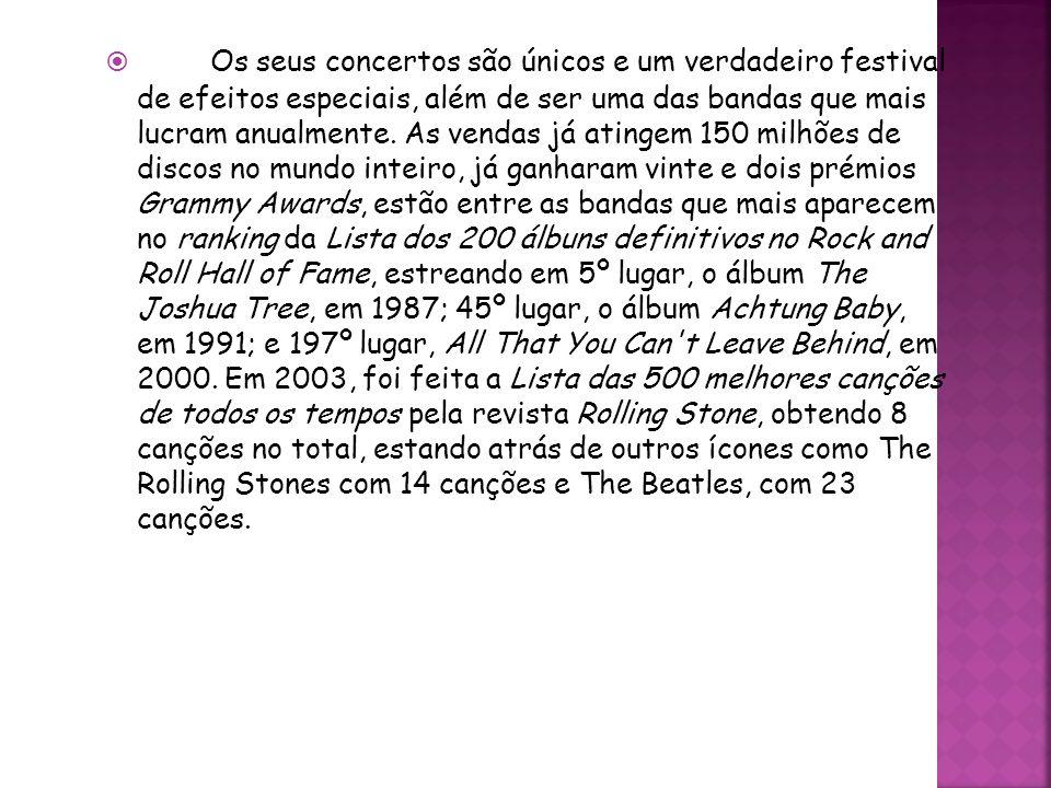 Os seus concertos são únicos e um verdadeiro festival de efeitos especiais, além de ser uma das bandas que mais lucram anualmente.