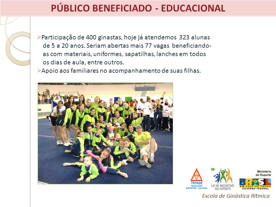 PÚBLICO BENEFICIADO - EDUCACIONAL