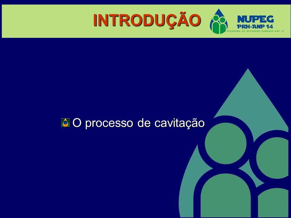 INTRODUÇÃO O processo de cavitação