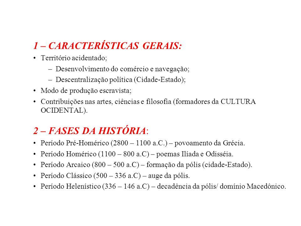 1 – CARACTERÍSTICAS GERAIS: