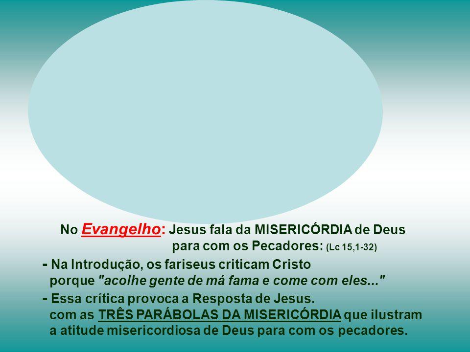 - Na Introdução, os fariseus criticam Cristo