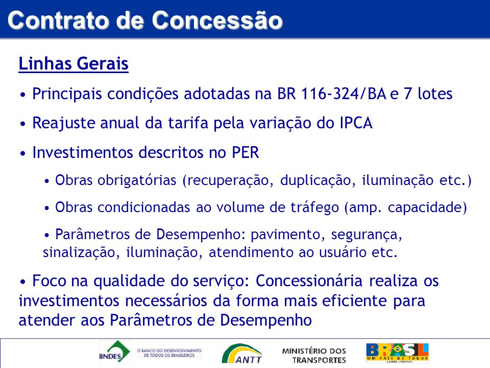 Contrato de Concessão Linhas Gerais