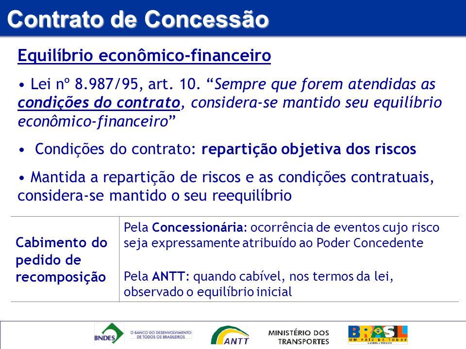 Contrato de Concessão Equilíbrio econômico-financeiro