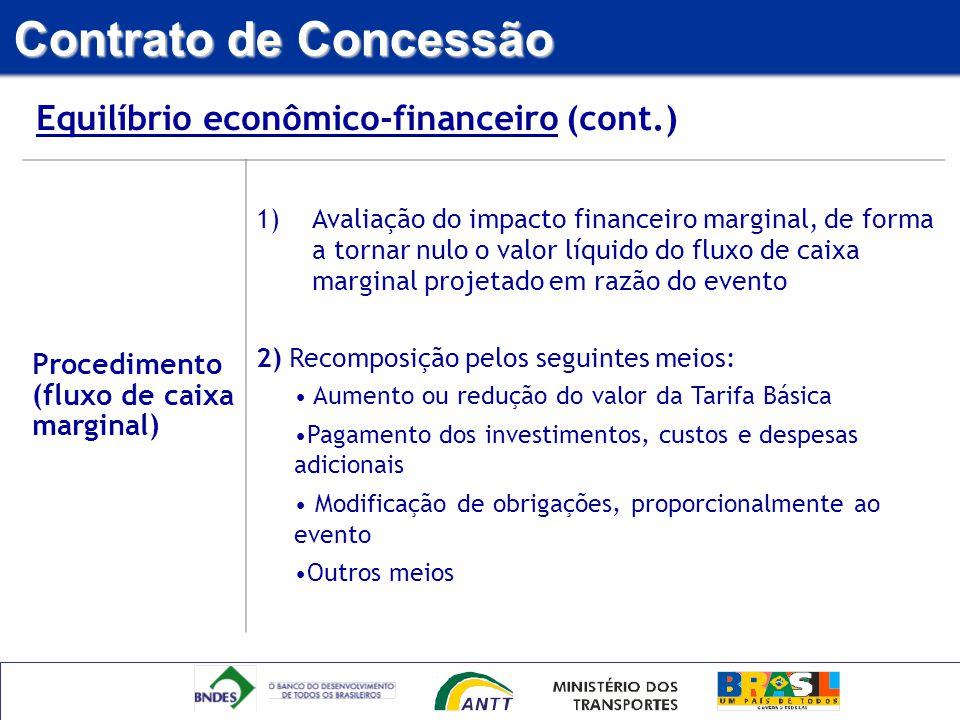 Contrato de Concessão Equilíbrio econômico-financeiro (cont.)