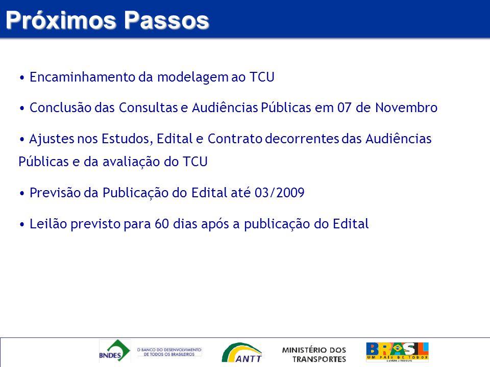 Próximos Passos Encaminhamento da modelagem ao TCU