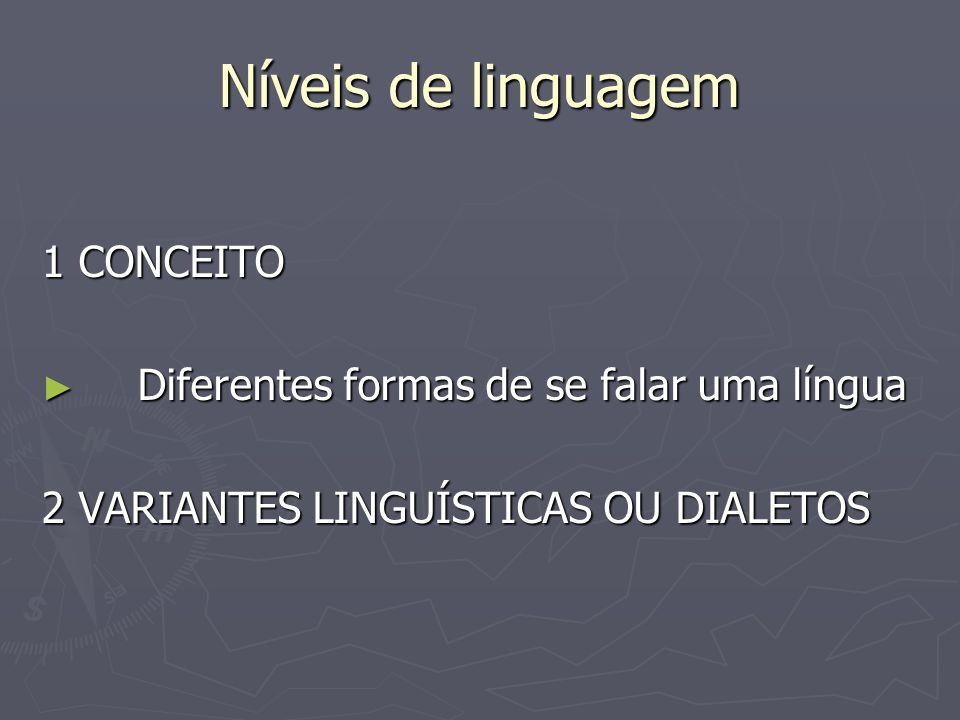 Níveis de linguagem 1 CONCEITO