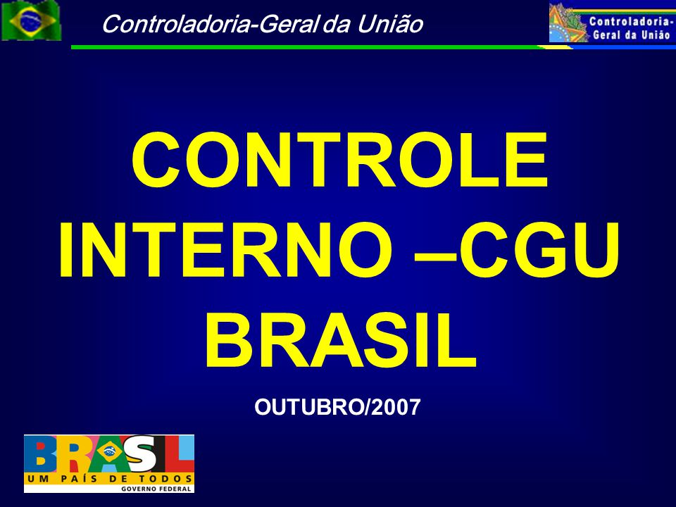 CONTROLE INTERNO –CGU BRASIL