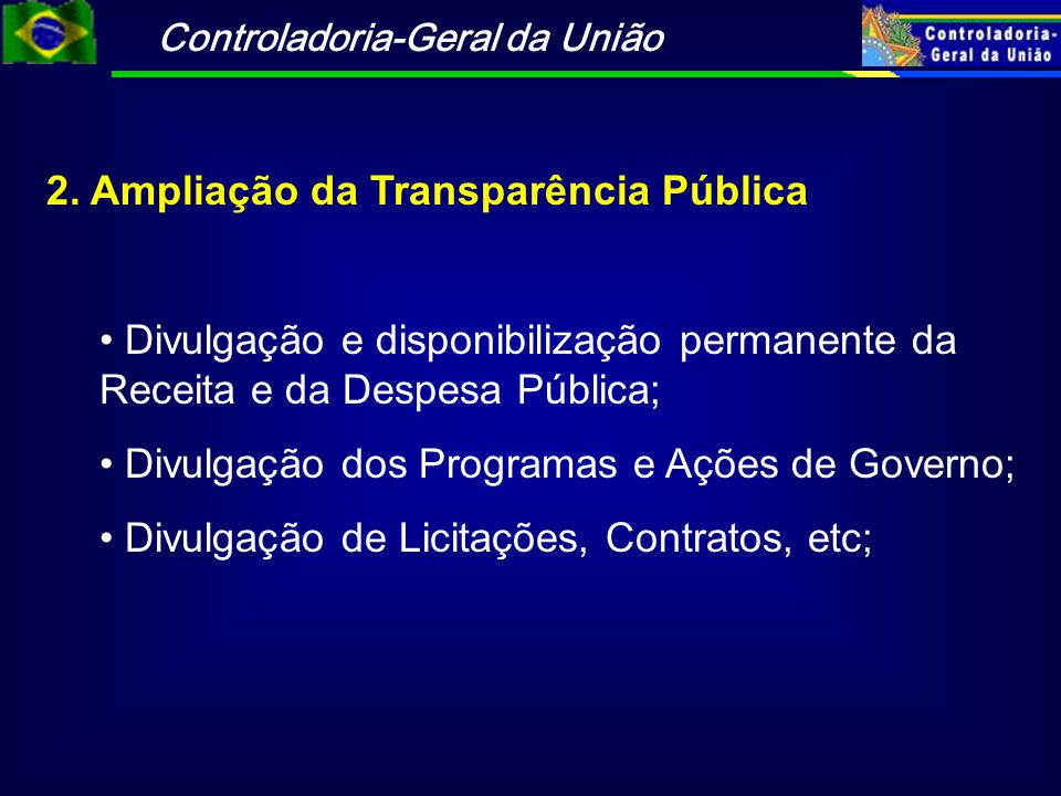 2. Ampliação da Transparência Pública