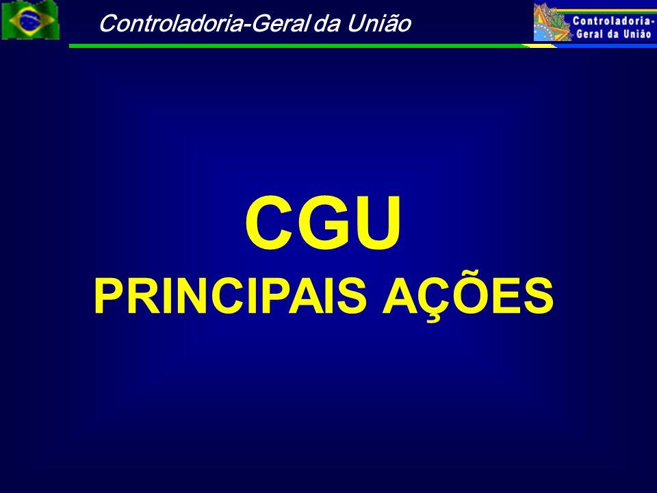 CGU PRINCIPAIS AÇÕES