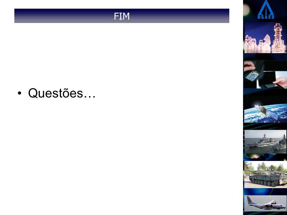 FIM Questões…