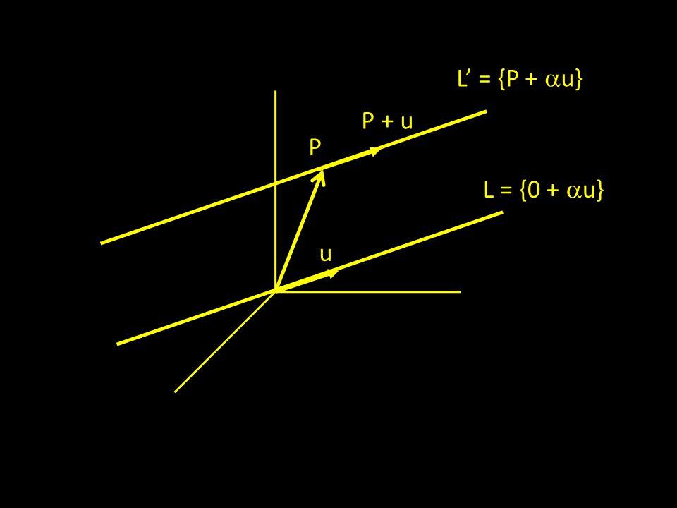 L' = {P + u} P + u P L = {0 + u} u