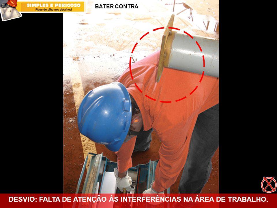 DESVIO: FALTA DE ATENÇÃO ÀS INTERFERÊNCIAS NA ÁREA DE TRABALHO.