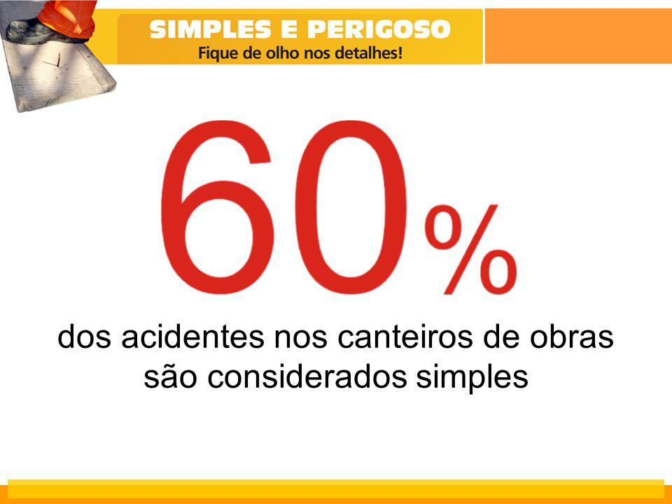 dos acidentes nos canteiros de obras são considerados simples