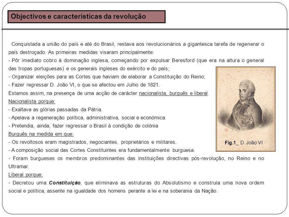Objectivos e características da revolução