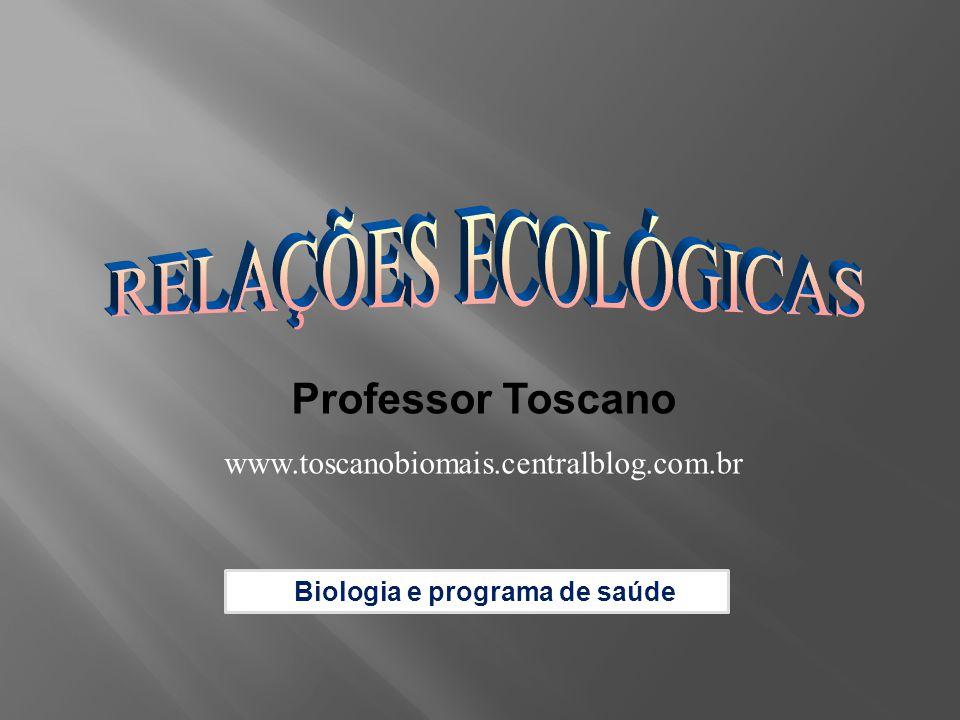 RELAÇÕES ECOLÓGICAS Professor Toscano