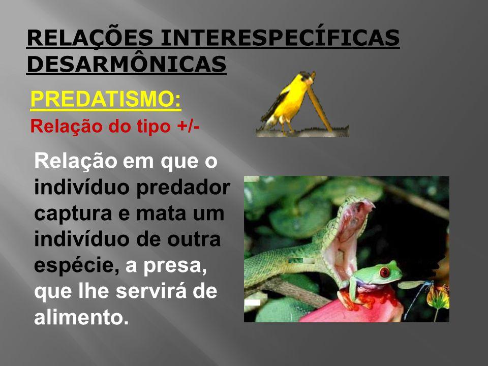 RELAÇÕES INTERESPECÍFICAS DESARMÔNICAS