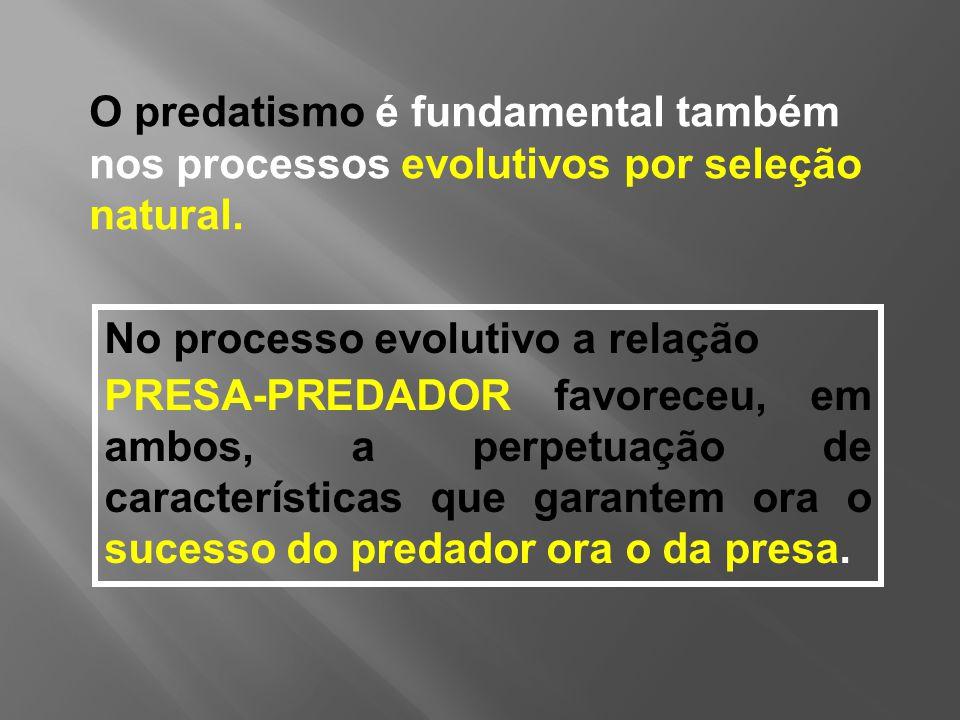 O predatismo é fundamental também nos processos evolutivos por seleção natural.
