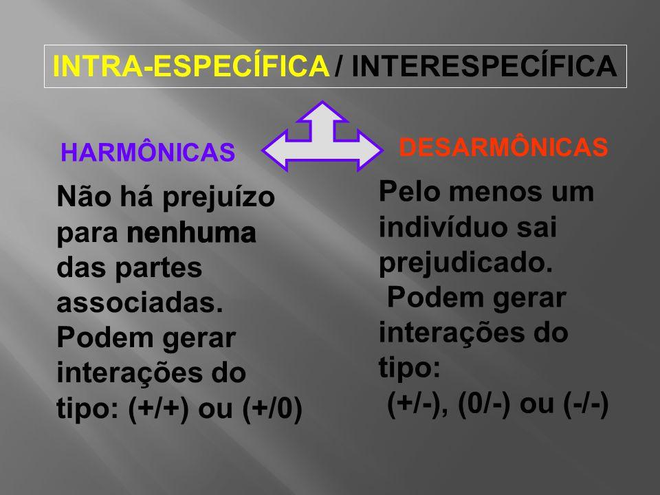 INTRA-ESPECÍFICA / INTERESPECÍFICA