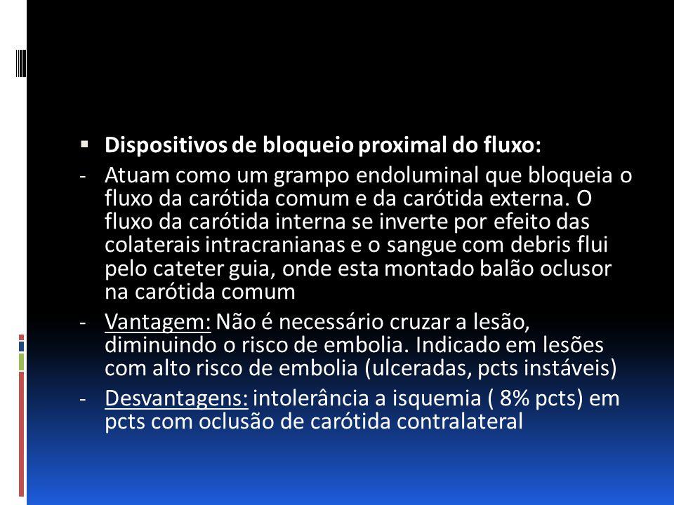 Dispositivos de bloqueio proximal do fluxo: