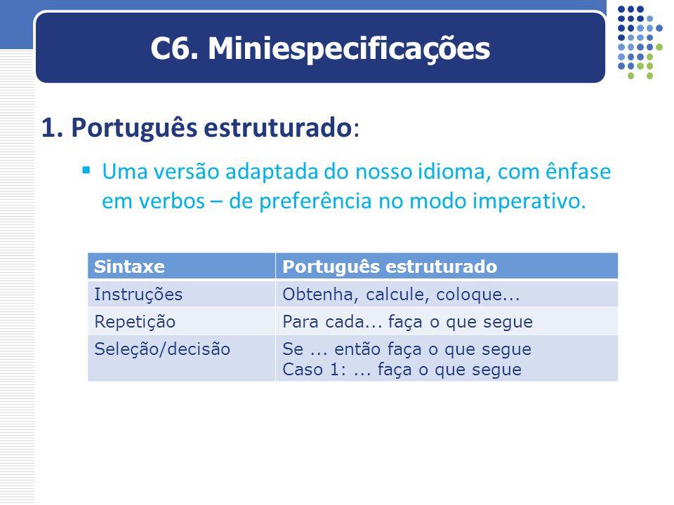 1. Português estruturado: