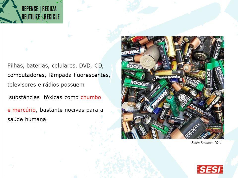 substâncias tóxicas como chumbo