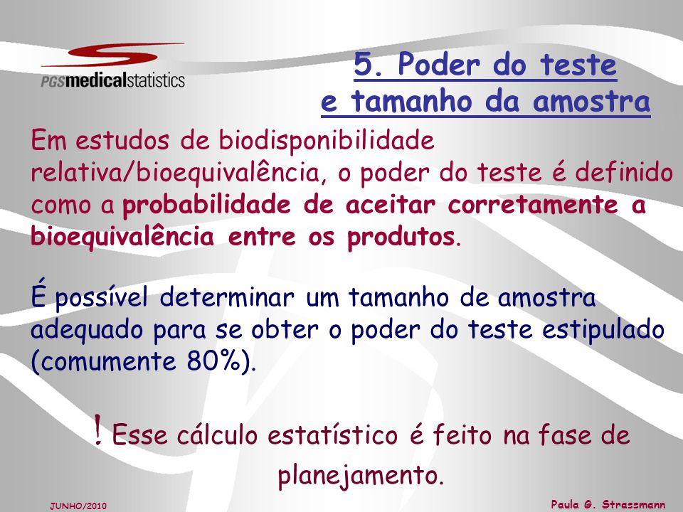 5. Poder do teste e tamanho da amostra