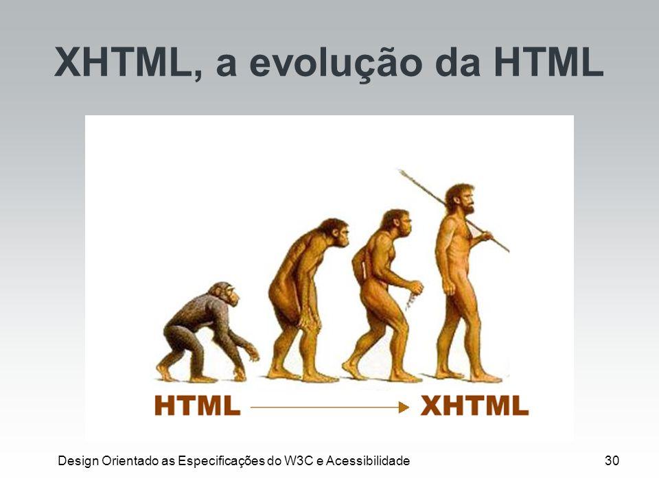XHTML, a evolução da HTML