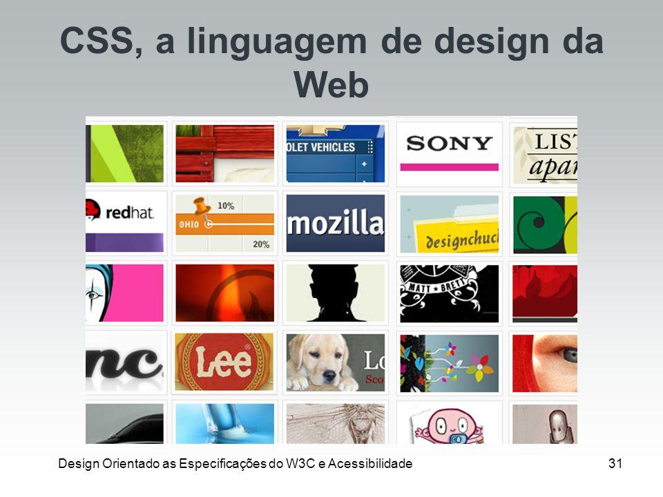 CSS, a linguagem de design da Web