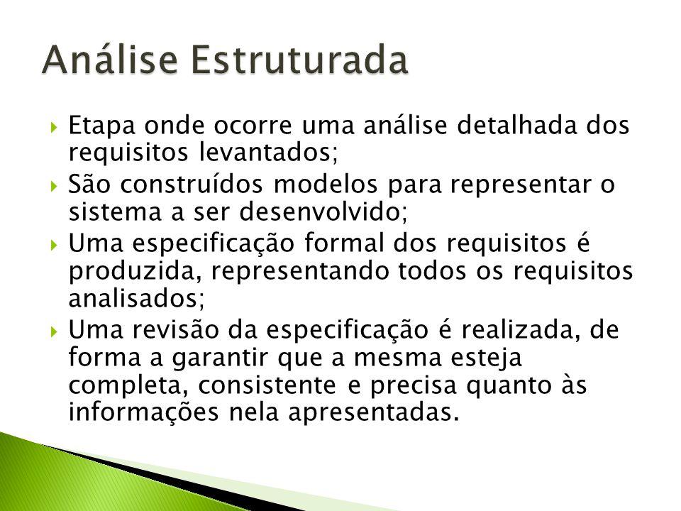 Análise Estruturada Etapa onde ocorre uma análise detalhada dos requisitos levantados;