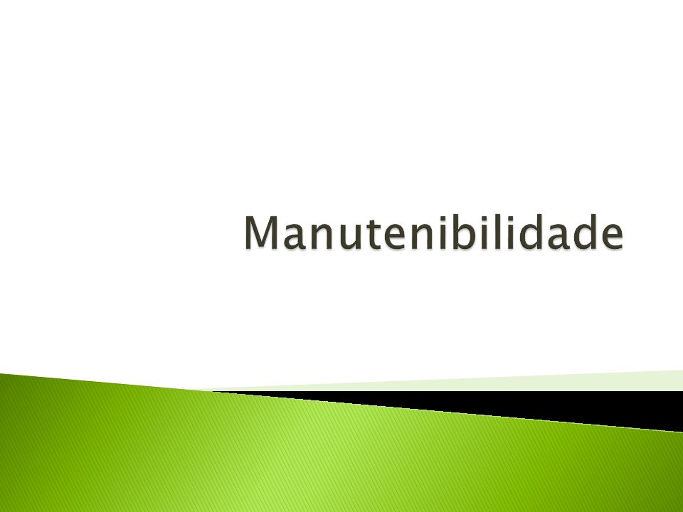 Manutenibilidade
