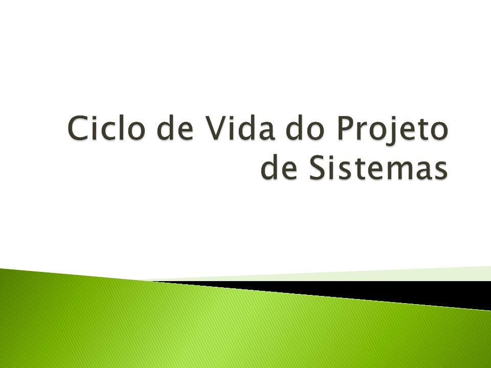 Ciclo de Vida do Projeto de Sistemas