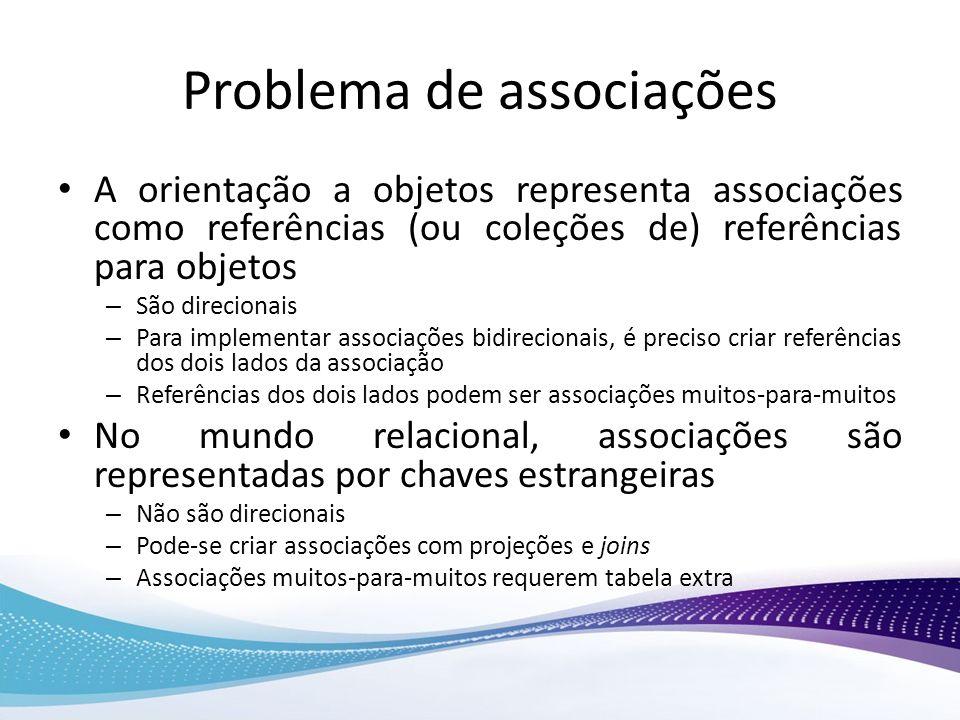 Problema de associações