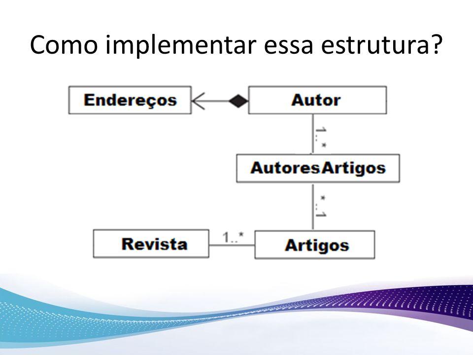 Como implementar essa estrutura