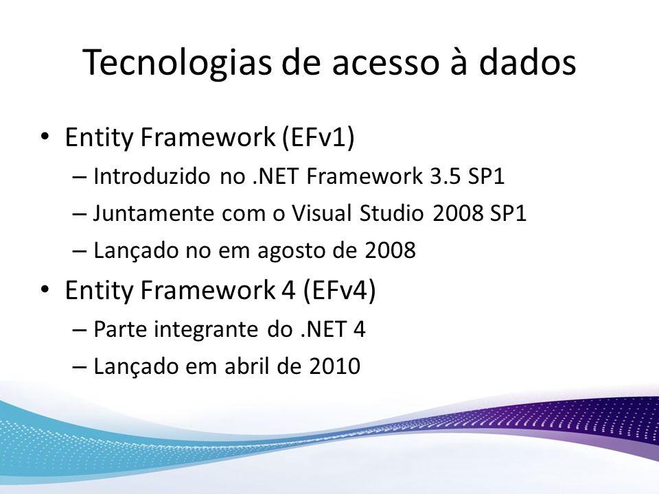 Tecnologias de acesso à dados
