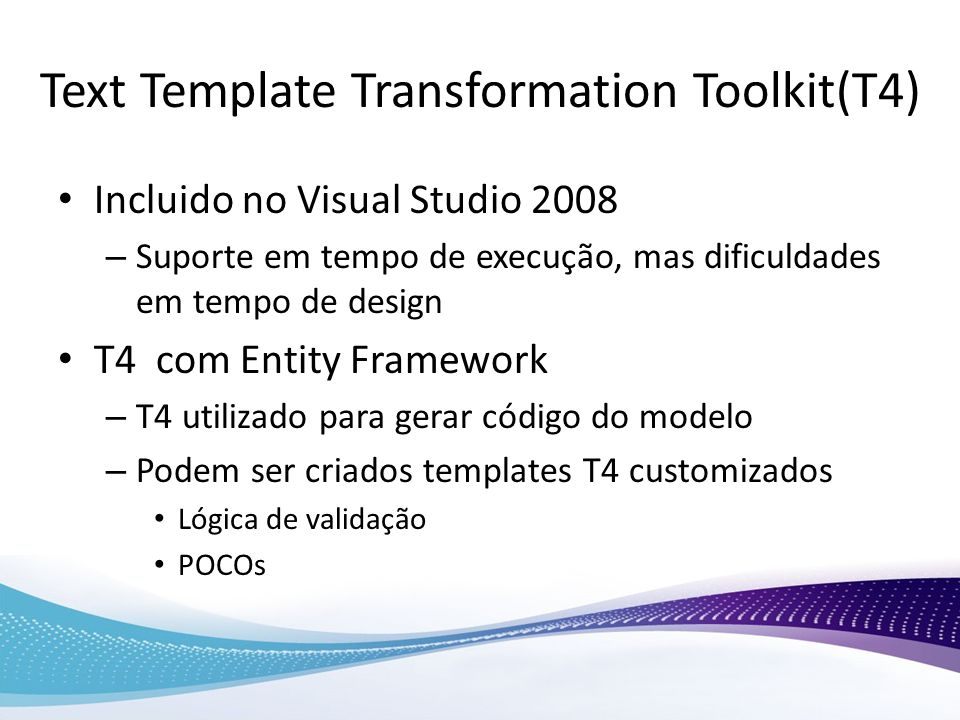 Text Template Transformation Toolkit(T4)