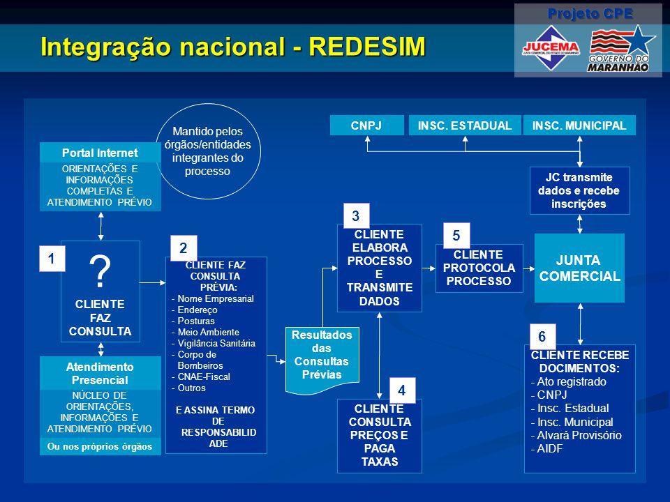 Integração nacional - REDESIM
