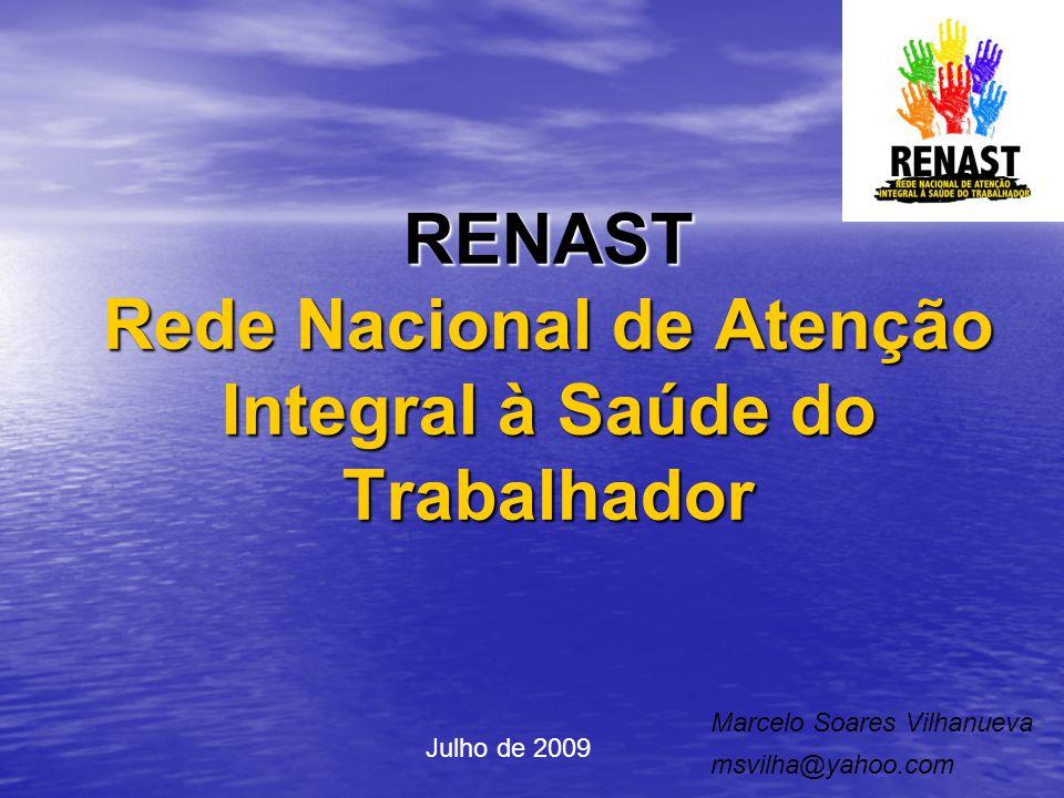 RENAST Rede Nacional de Atenção Integral à Saúde do Trabalhador