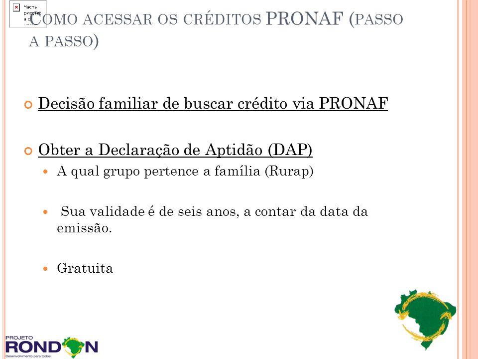Como acessar os créditos PRONAF (passo a passo)