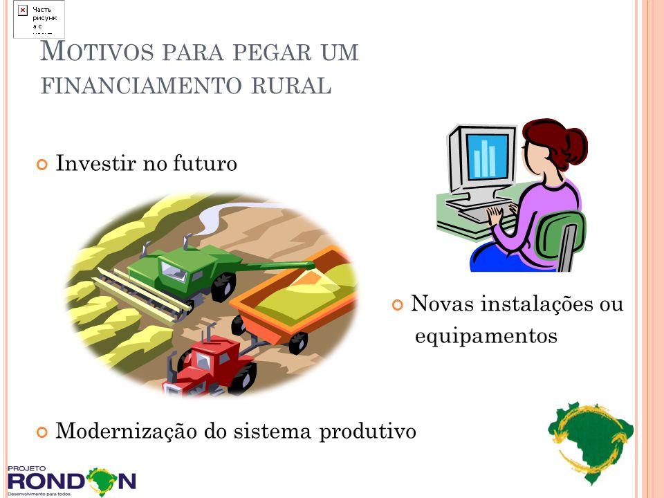 Motivos para pegar um financiamento rural
