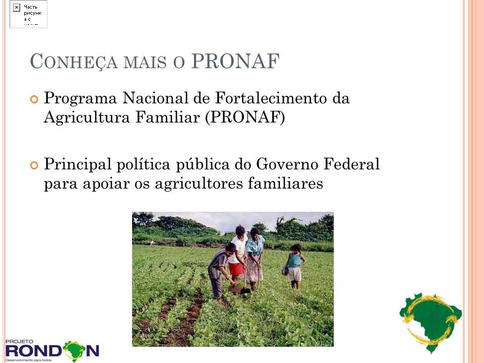 Conheça mais o PRONAF Programa Nacional de Fortalecimento da Agricultura Familiar (PRONAF)