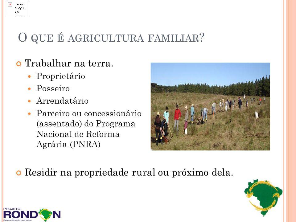 O que é agricultura familiar