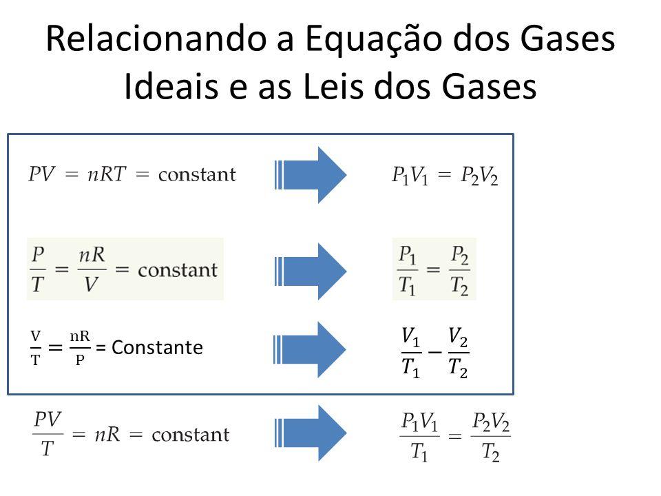 Relacionando a Equação dos Gases Ideais e as Leis dos Gases