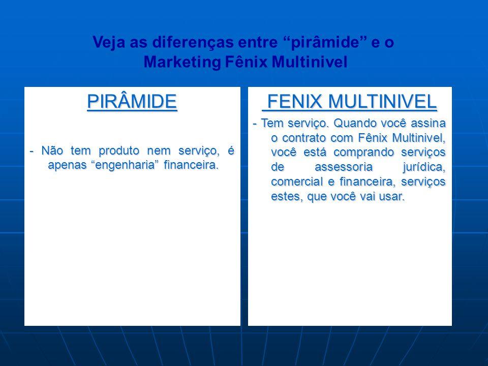 Veja as diferenças entre pirâmide e o Marketing Fênix Multinivel
