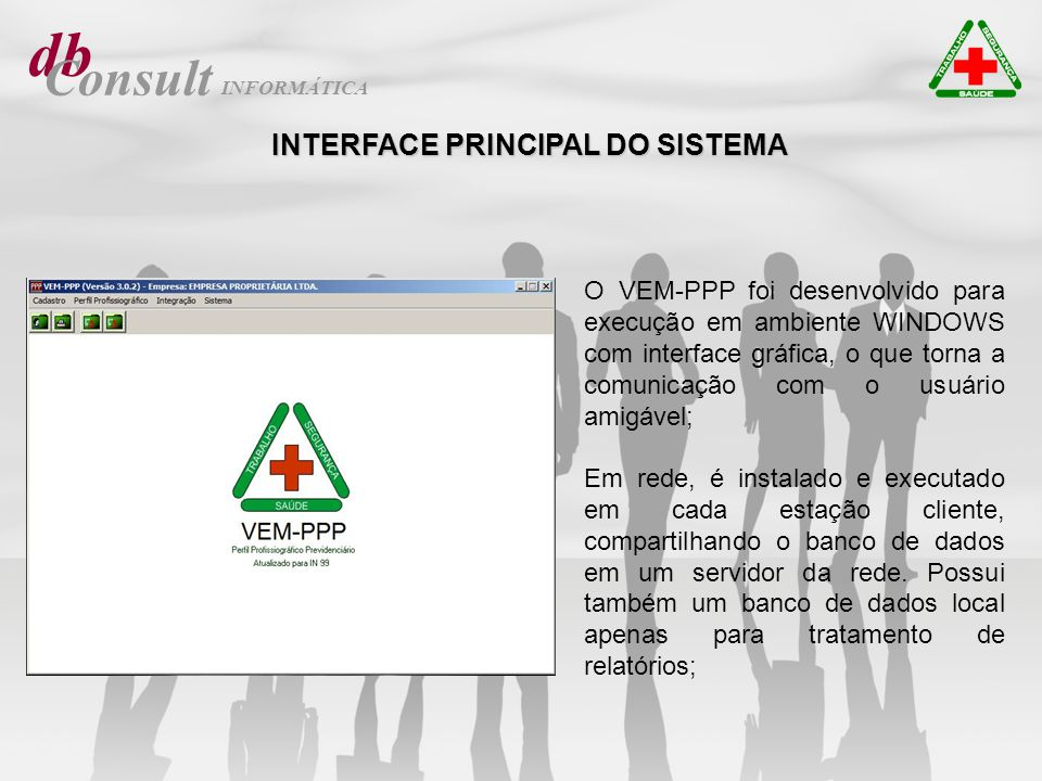 db Consult INTERFACE PRINCIPAL DO SISTEMA