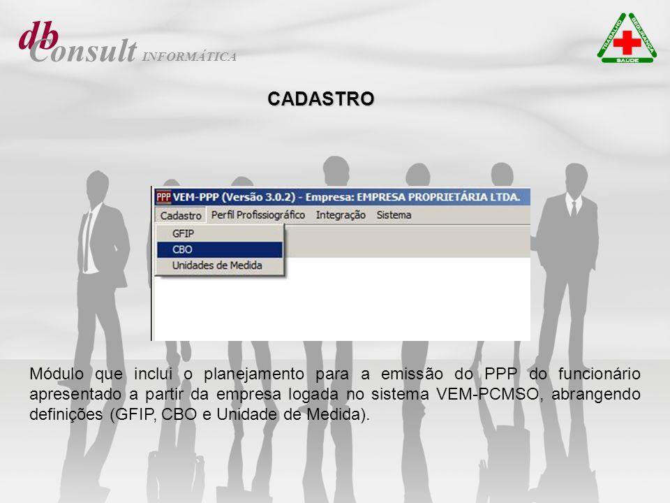 db Consult. INFORMÁTICA. CADASTRO.